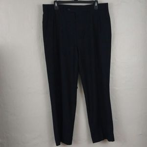 Burberry Navy Blue Burgandy Pinstripe Dress Pants